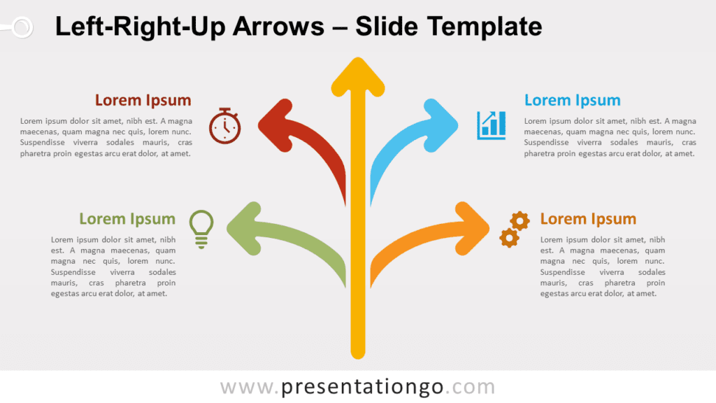 Free Left-Right-Up Arrows for PowerPoint and Google Slides