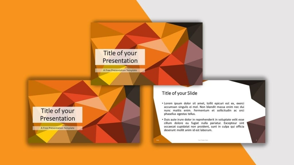 Orange Template for your PowerPoint Presentation