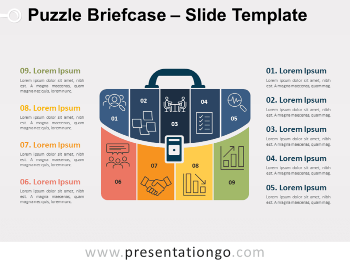 Free Puzzle Briefcase for PowerPoint