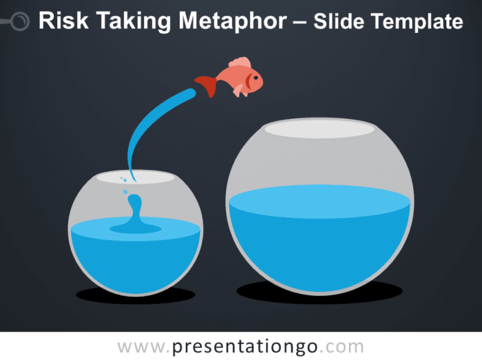 Free Risk Taking Metaphor Infographic for PowerPoint