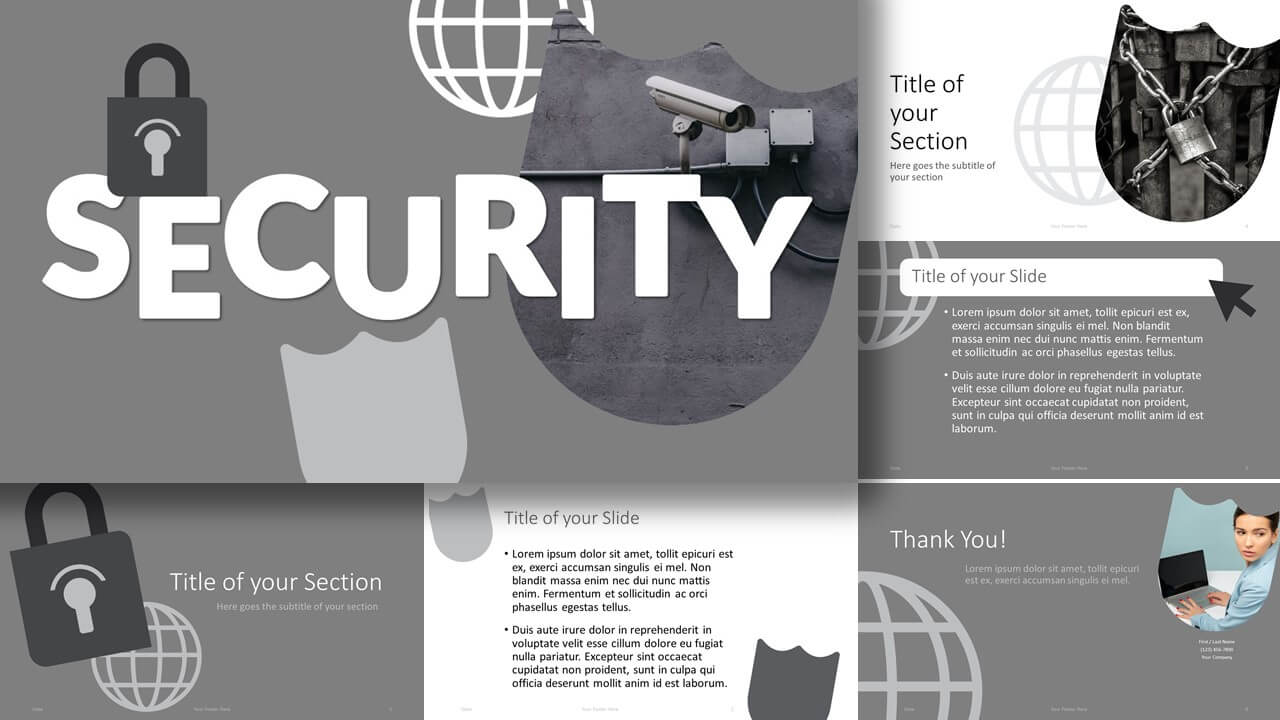 Free SECURITY Template for Google Slides and PowerPoint