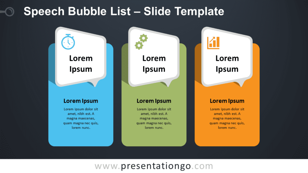 Free Speech Bubble List Infographic for PowerPoint and Google Slides