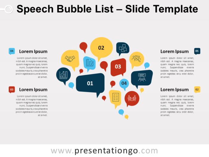 Free Speech Bubble List for PowerPoint