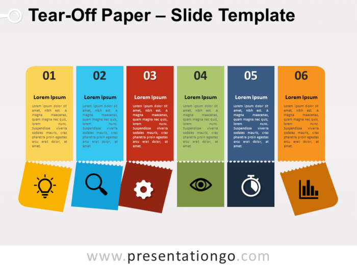 Free Tear-Off Paper for PowerPoint