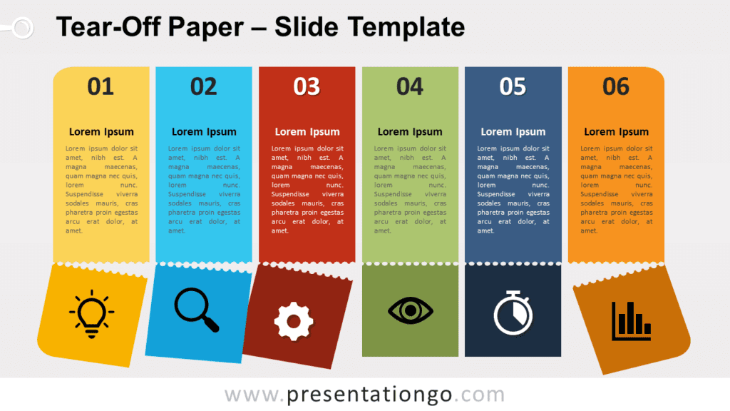 Free Tear-Off Paper for PowerPoint and Google Slides