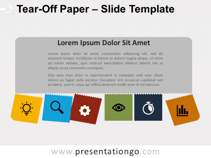 Free Tear-Off Paper Template for PowerPoint