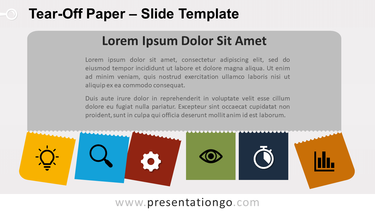 Free Tear-Off Paper Template for PowerPoint and Google Slides