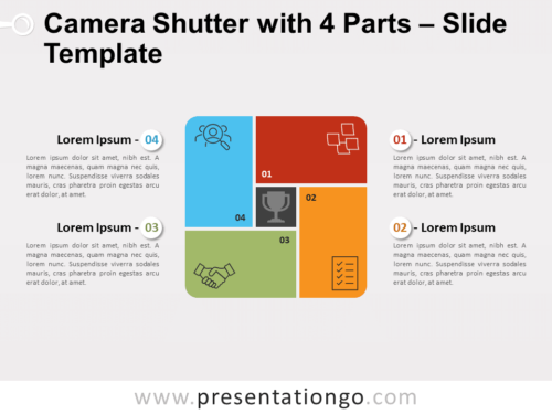 Free Camera Shutter with 4 Parts for PowerPoint
