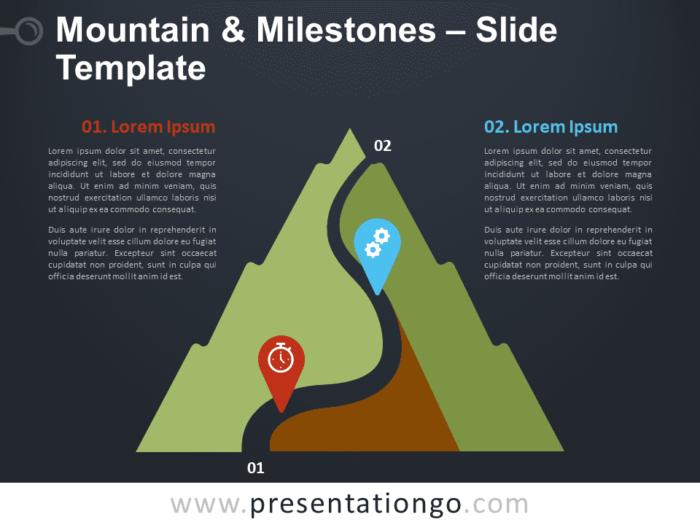 Mountain & Milestones Graphics for PowerPoint