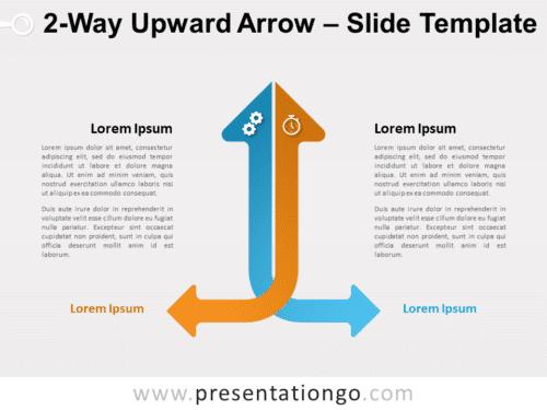Free 2-Way Upward Arrow for PowerPoint