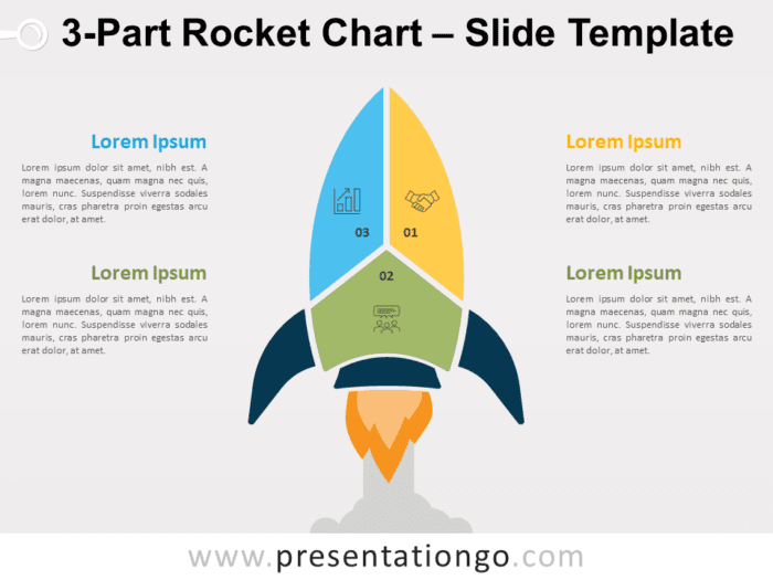 Free 3-Part Rocket Chart for PowerPoint