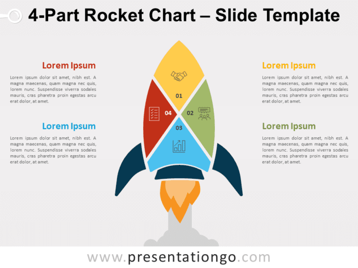 Free 4-Part Rocket Chart for PowerPoint