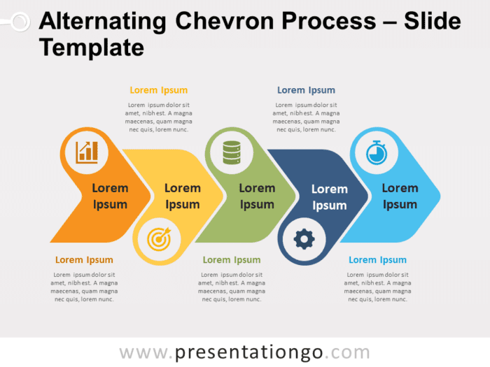Free Alternating Chevron Process Timeline for PowerPoint