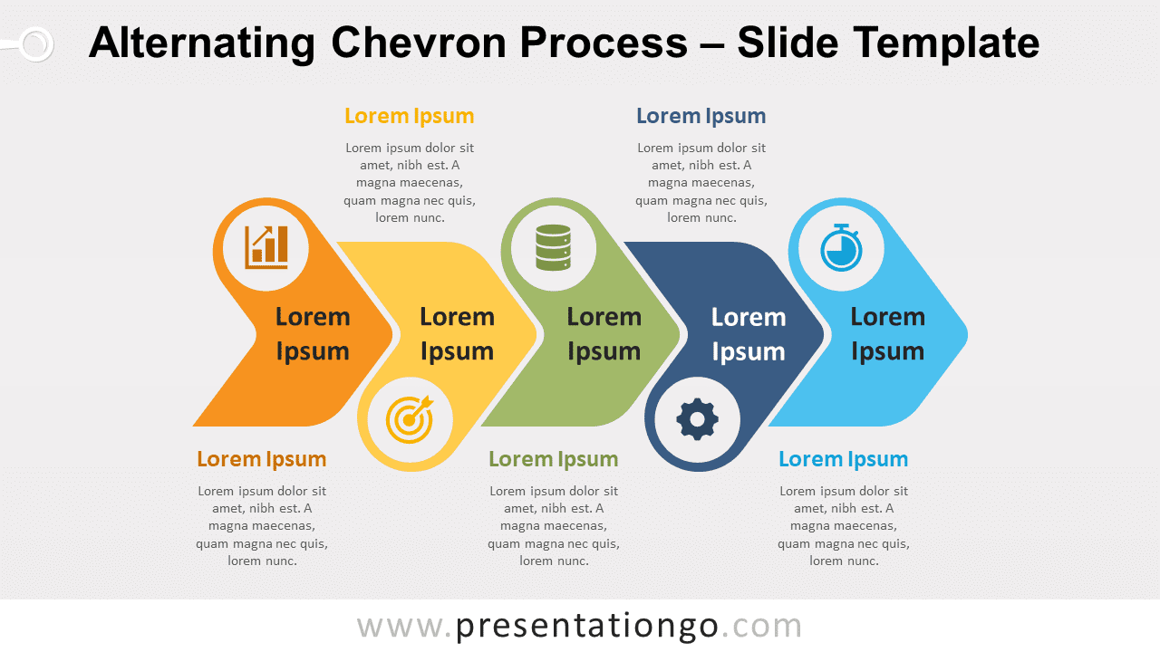 Free Alternating Chevron Process for PowerPoint and Google Slides