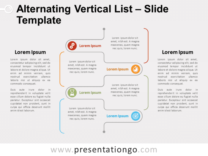 Free Alternating Vertical List for PowerPoint