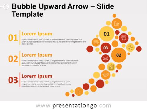 Free Bubble Upward Arrow for PowerPoint