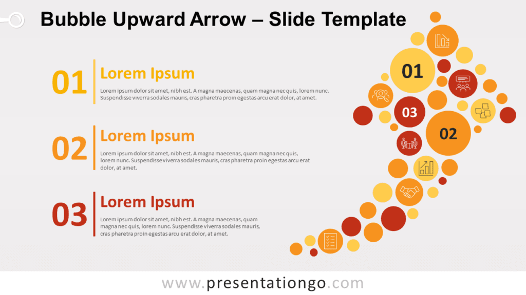 Free Bubble Upward Arrow for PowerPoint and Google Slides