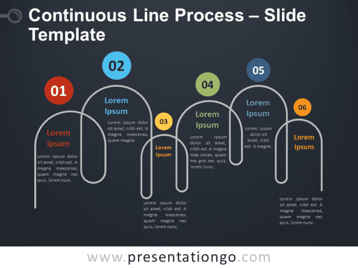 Free Continuous Line Process Timeline for PowerPoint