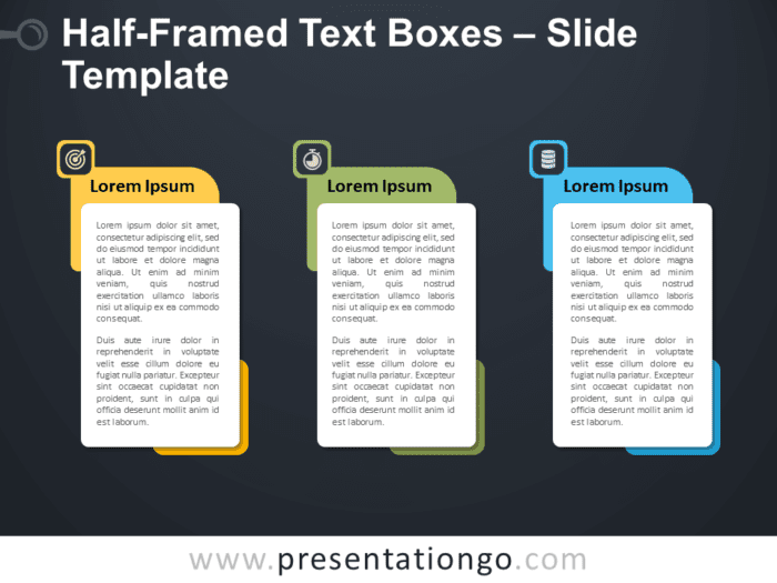 Free Half-Framed Text Boxes Graphics for PowerPoint