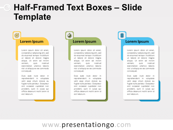 Free Half-Framed Text Boxes for PowerPoint