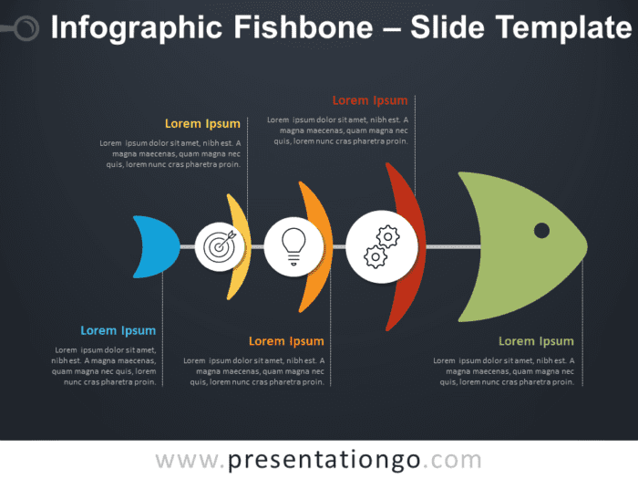 Free Infographic Fishbone Diagram for PowerPoint
