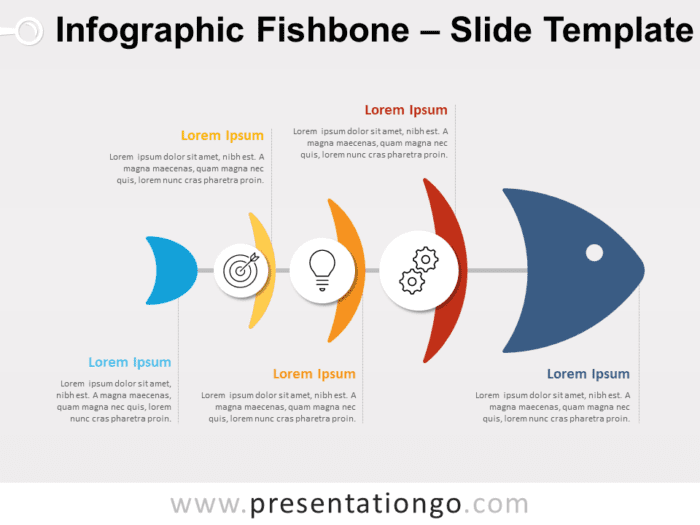 Free Infographic Fishbone for PowerPoint