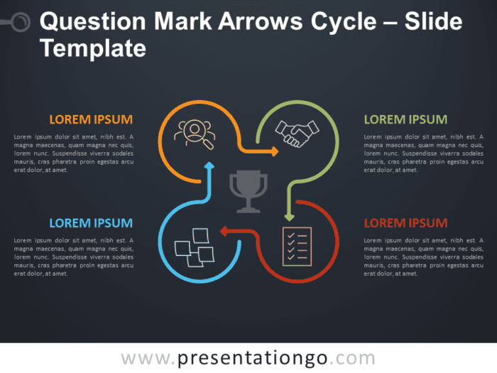 Free Question Mark Arrows Cycle Diagram for PowerPoint