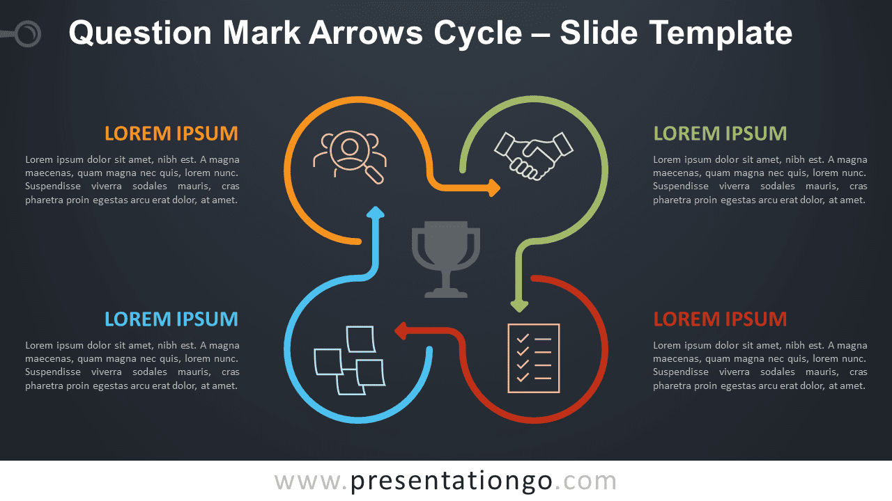 Free Question Mark Arrows Cycle Diagram for PowerPoint and Google Slides