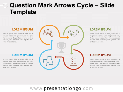 Free Question Mark Arrows Cycle for PowerPoint