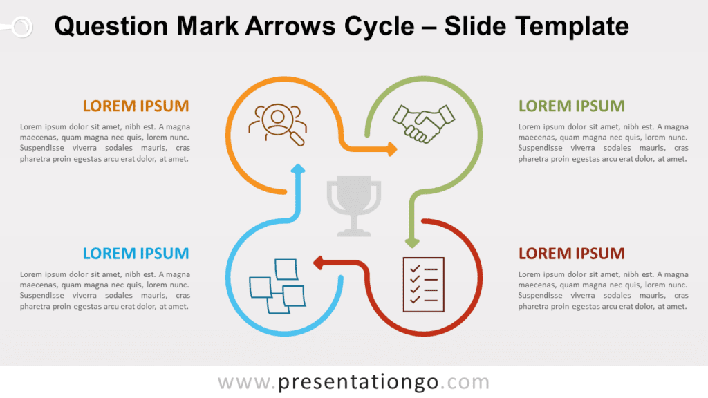 Free Question Mark Arrows Cycle for PowerPoint and Google Slides