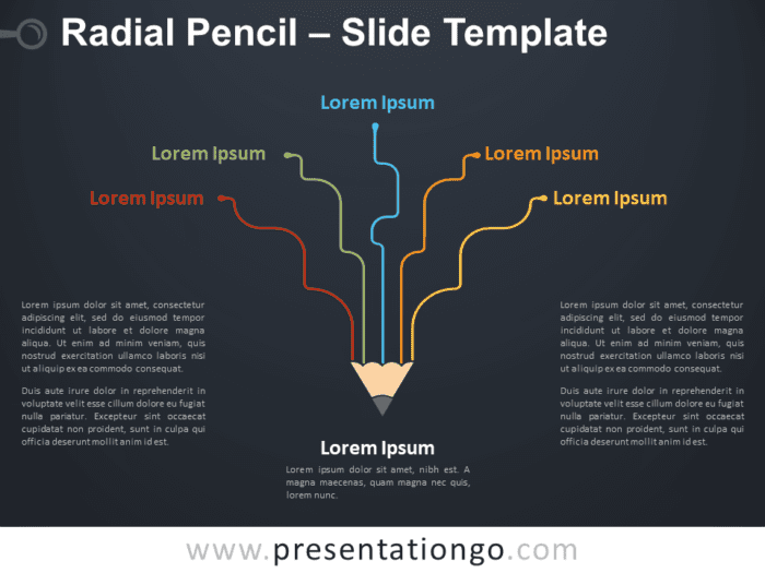 Free Radial Pencil for PowerPoint