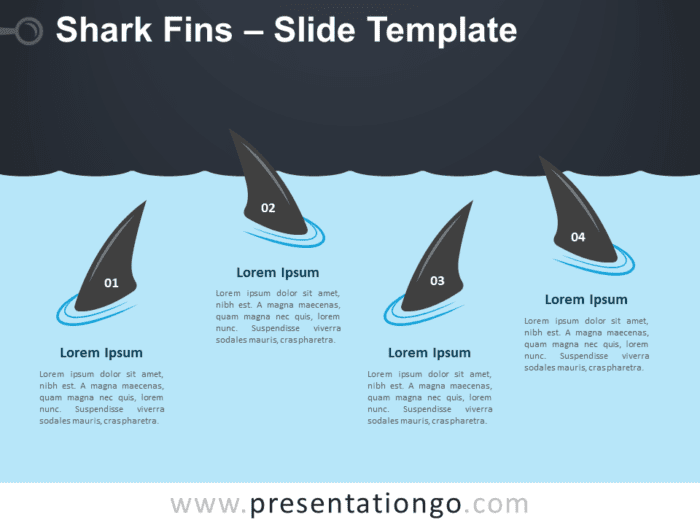 Free Shark Fins Graphics for PowerPoint