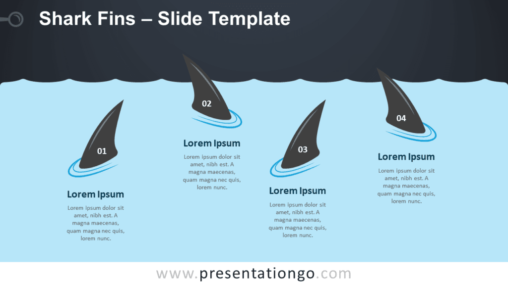 Free Shark Fins Graphics for PowerPoint and Google Slides