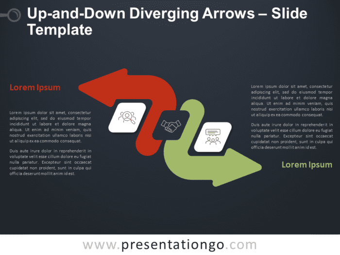 Free Up-and-Down Diverging Arrows for PowerPoint and Google Slides