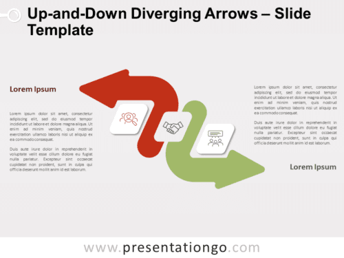 Free Up-and-Down Diverging Arrows for PowerPoint