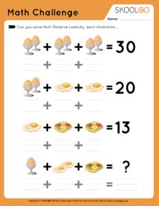 Math Challenge #1 - Free Worksheet