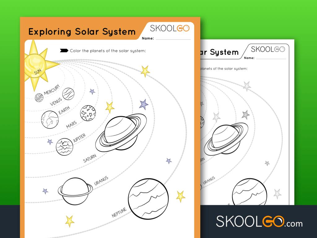Free Worksheet Exploring The Solar System - SKOOLGO
