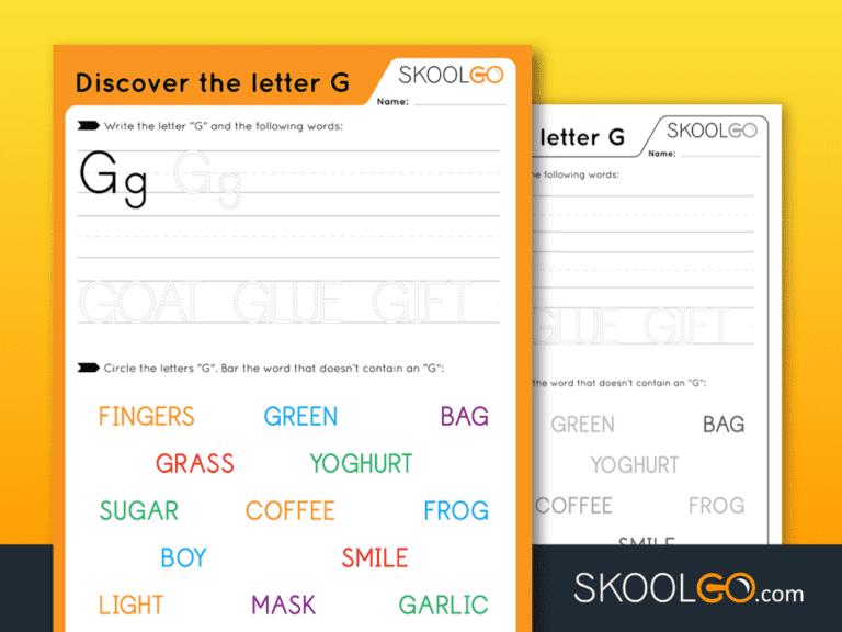 Free Worksheet for Kids - Discover The Letter G - SKOOLGO