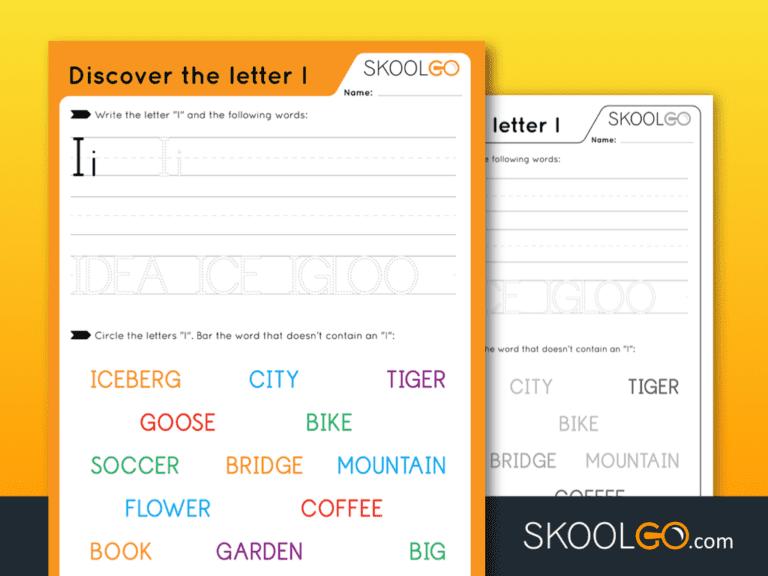 Free Worksheet for Kids - Discover The Letter I - SKOOLGO