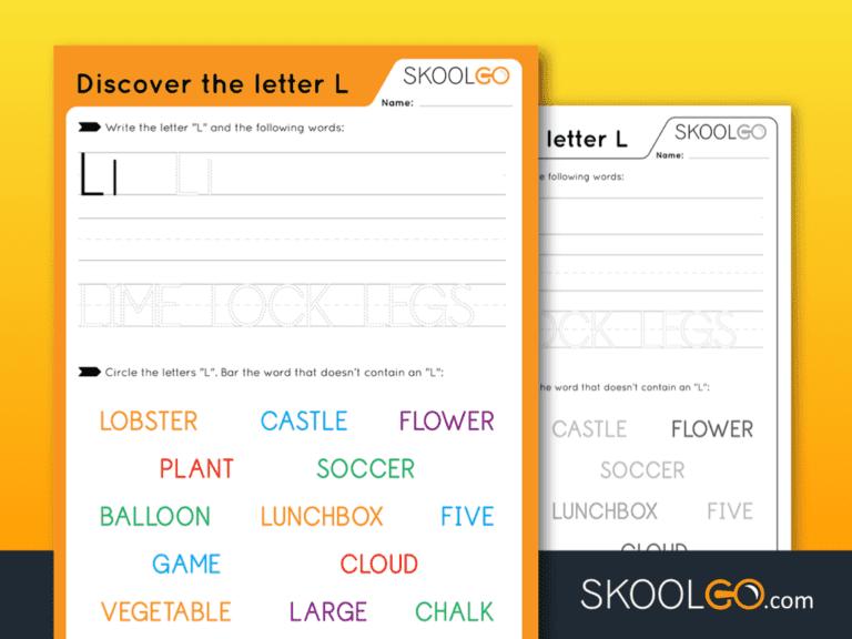 Free Worksheet for Kids - Discover The Letter L - SKOOLGO