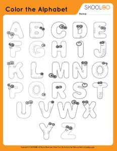Color The Alphabet - Free Worksheet for Kids