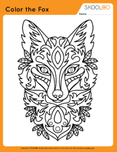 Color The Fox - Free Worksheet for Kids