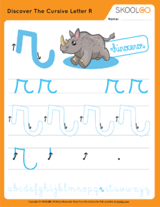 Discover The Cursive Letter R - Free Worksheet for Kids