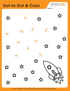 Dot-To-Dot and Color - Free Worksheet for Kids