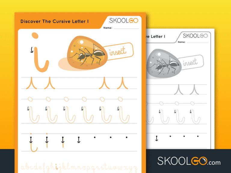 Free Worksheet for Kids - Discover The Cursive Letter I - SKOOLGO
