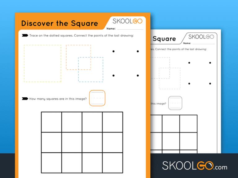 Free Worksheet for Kids - Discover The Square - SKOOLGO
