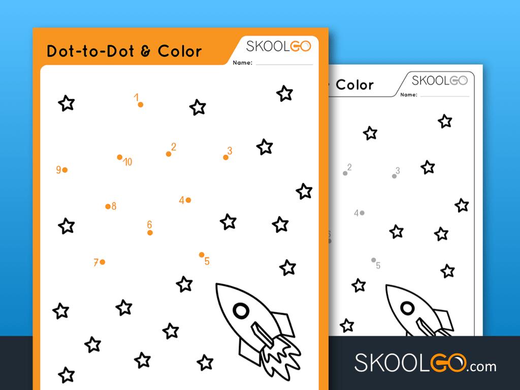 Free Worksheet for Kids - Dot-To-Dot Color - SKOOLGO
