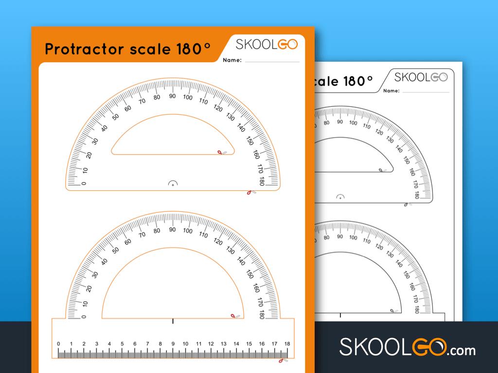 Free Worksheet for Kids - Protractor Scale 180 - SKOOLGO