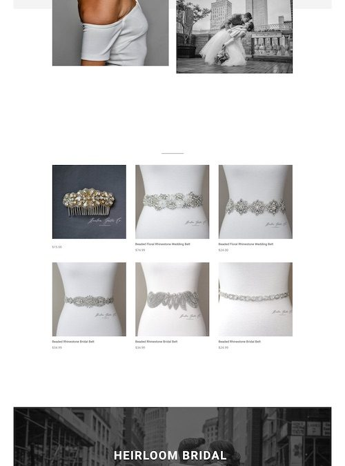 Heirloom Bridal Company Website Design and Development