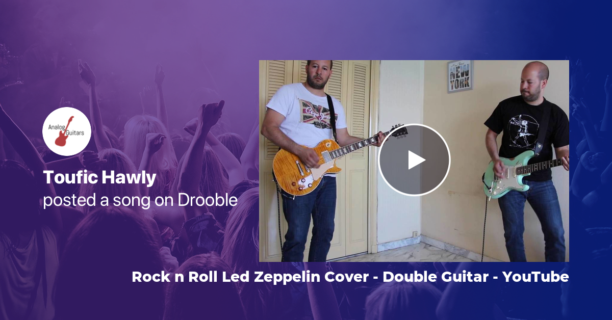 Rock n Roll Led Zeppelin Cover - Double Guitar - YouTube